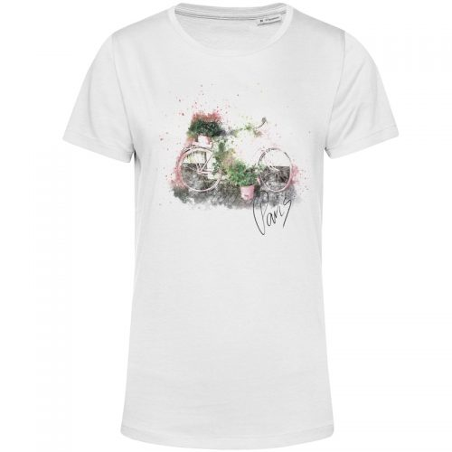 organic t shirt weiss paris bike